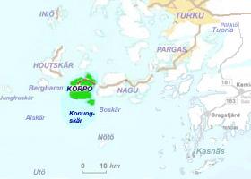 Korpo - skärgårdskarta