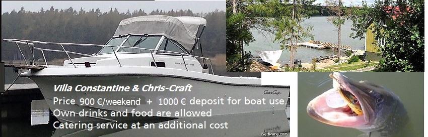 Villa Constantine Pargas & ChrisCraft boat