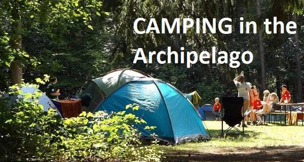 Camping i Åbo skärgård