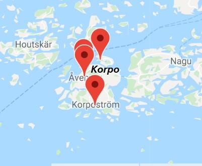 Korpo map