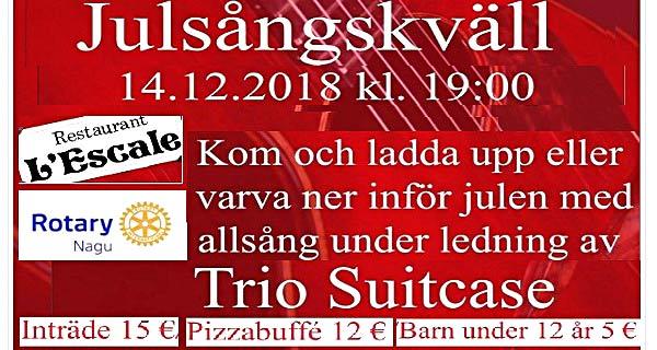 Nagu Rotaryklubb Julsångskväll 14.dec kl 19