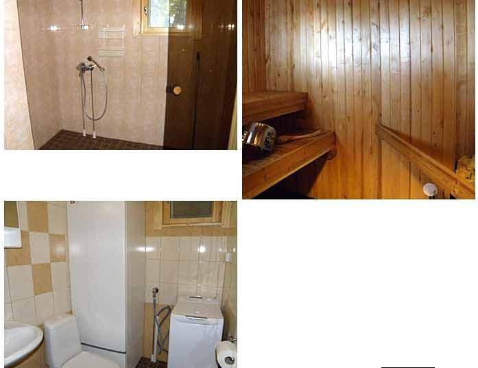 Meripesä stuga #75 - Badrum och sauna